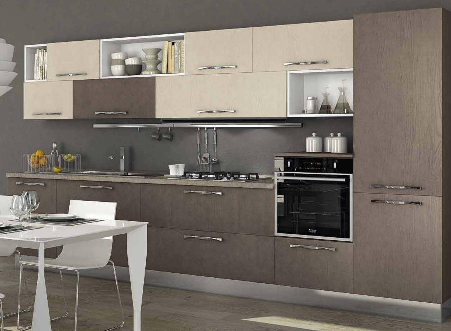 Cucina componibile a vista 05 | Mini Cucine moderne per ...