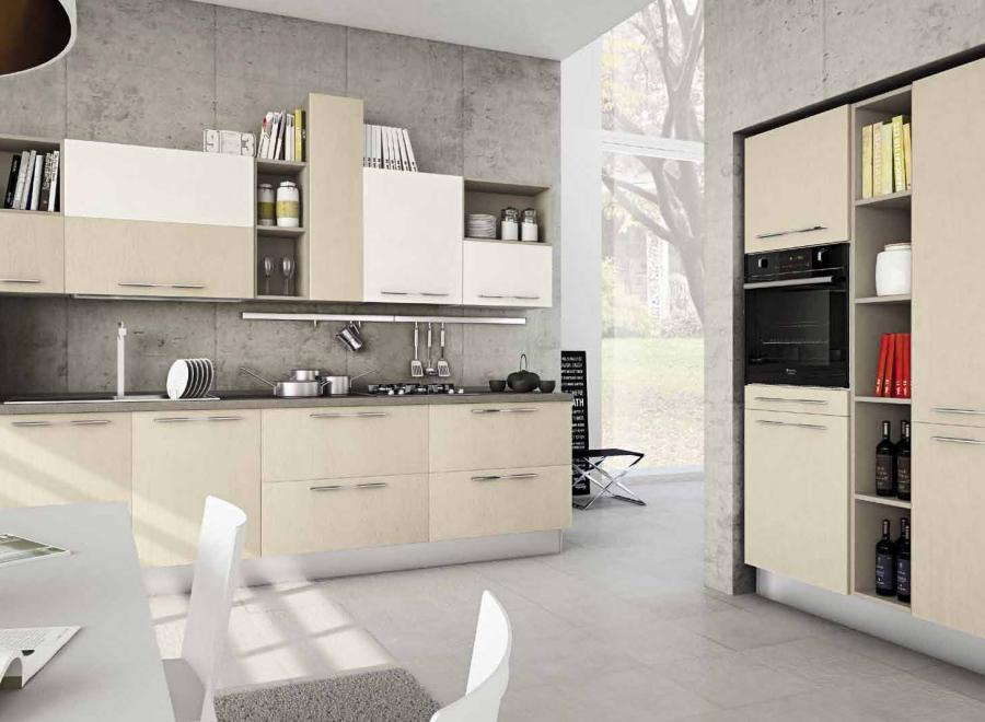 Cucina componibile a vista 08 - Cucine piccoli spazi ...