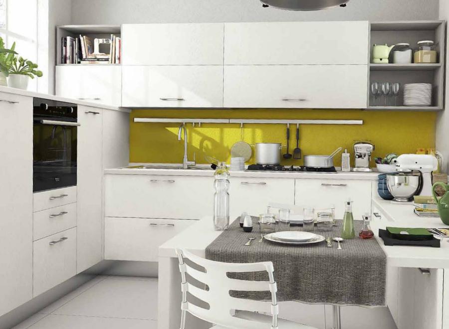 Cucina componibile a vista 12 for Cucine in piccoli spazi
