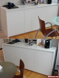 Base cucina con lavello e elettrodomestici a scomparsa 5