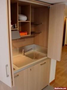 Cucina a scomparsa per monolocale 4