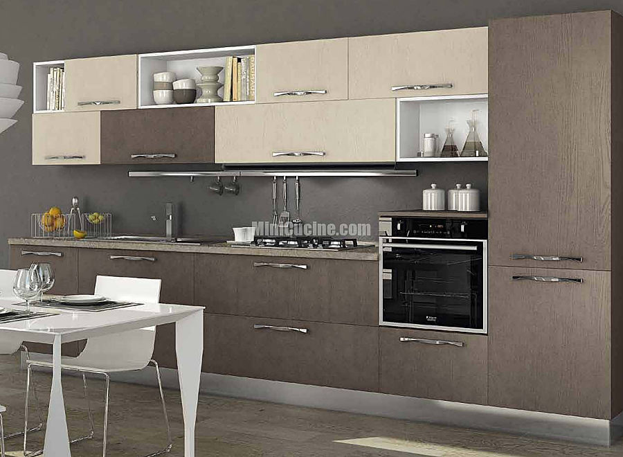 05 cucina componibile a vista | Mini Cucine moderne per piccoli spazi