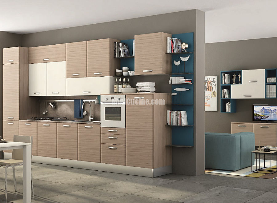 10 cucina componibile a vista | Mini Cucine moderne per piccoli spazi