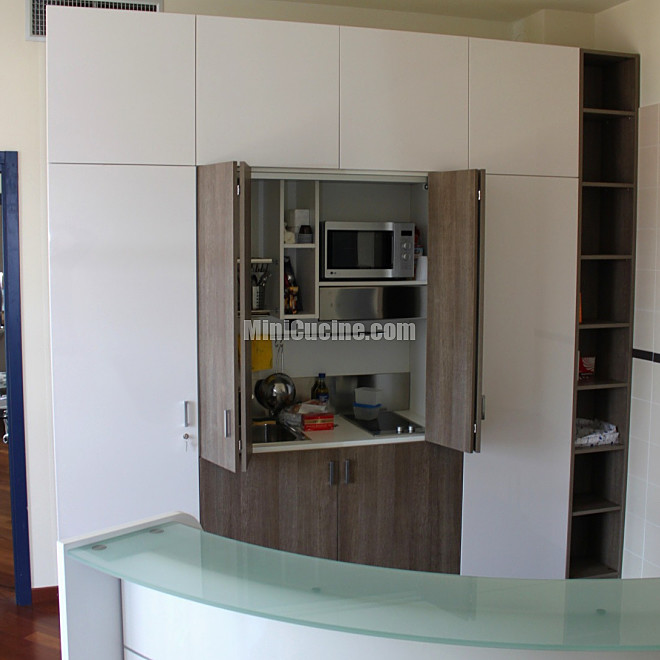 Cucine a scomparsa minicucine cucine moderne per piccoli spazi - Cucina monoblocco a scomparsa ...