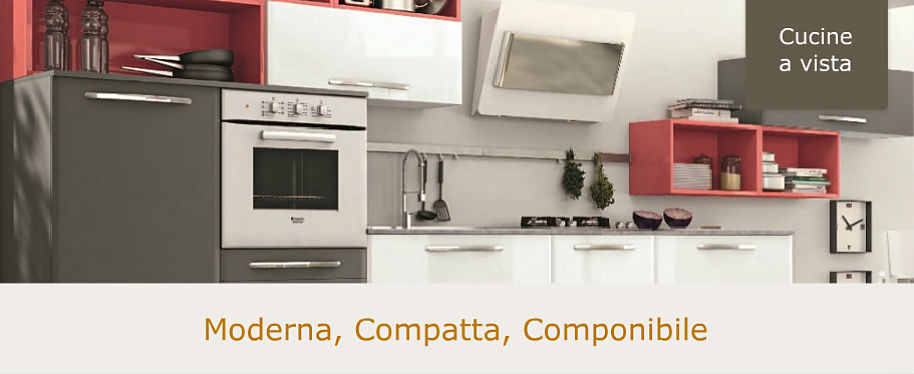 Cucine a vista moderne, componibili o monoblocco | Mini Cucine ...