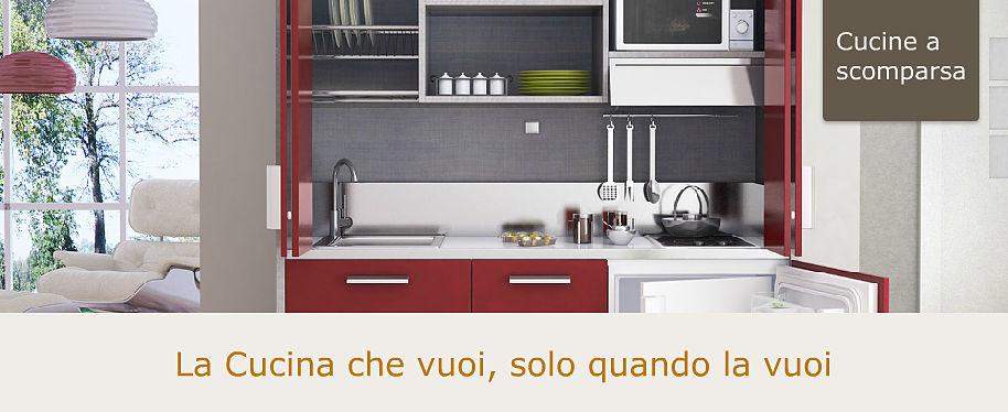 Minicucine moderne a scomparsa compatte per piccoli spazi - Cucine armadio a scomparsa ...