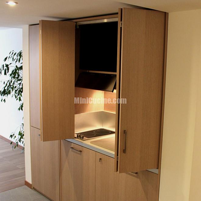 Rovere chiaro | Mini Cucine moderne per piccoli spazi