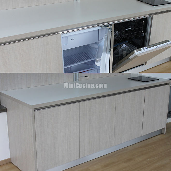 Cucina armadio a scomparsa su misura bassa