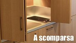 Soluzioni cucine a scomparsa