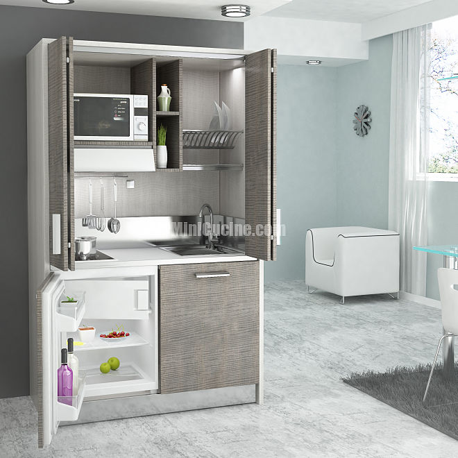 Cucine a scomparsa monoblocco minicucine - Cucina compatta ...