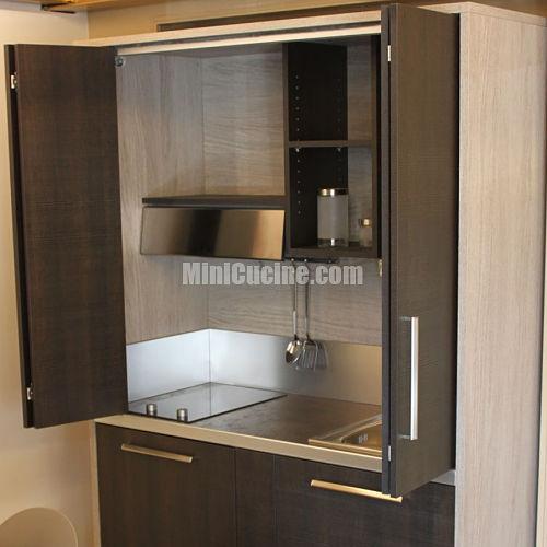 Ante a libro mini cucine moderne per piccoli spazi - Armadio cucina monoblocco ...