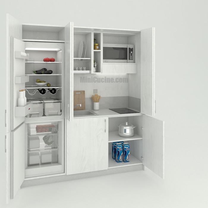 Mini cucina a scomparsa con frigo