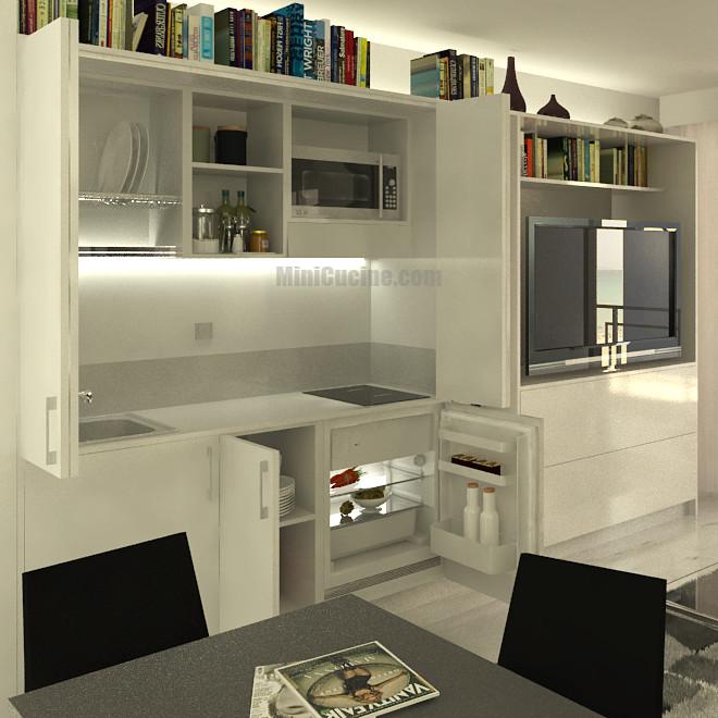 Mini cucina a scomparsa