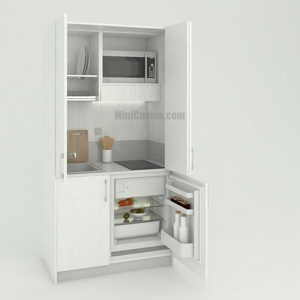 Mini cucina a scomparsa da cm. 109 aperta, monoblocco