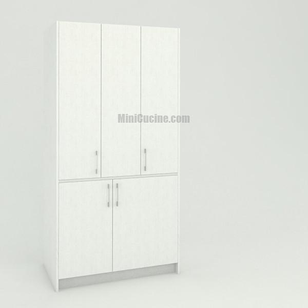 Mini cucina a scomparsa da cm. 109 chiusa, monoblocco