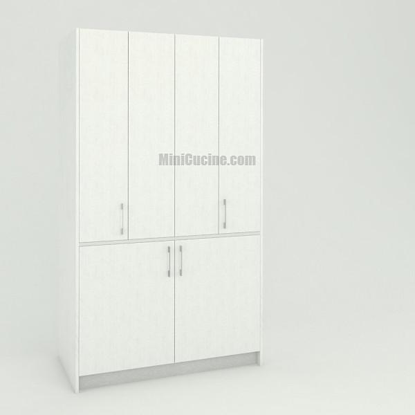 Mini cucina a scomparsa da cm. 124 chiusa, monoblocco