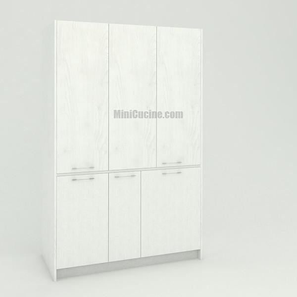 Mini cucina a scomparsa da cm. 139 chiusa, monoblocco