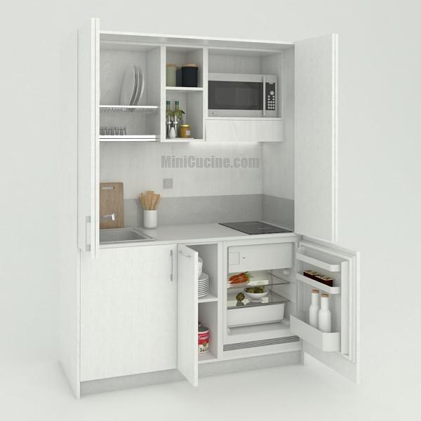 Mini cucina a scomparsa da cm. 154 aperta, monoblocco