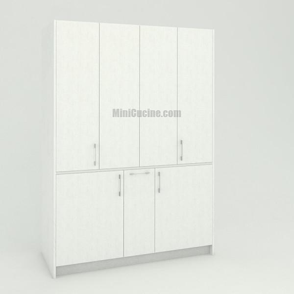 Mini cucina a scomparsa da cm. 154 chiusa, monoblocco