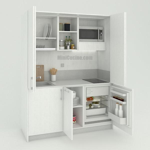Mini cucina a scomparsa da cm. 164 aperta, monoblocco