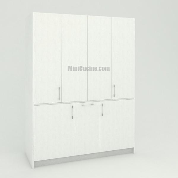 Mini cucina a scomparsa da cm. 164 chiusa, monoblocco