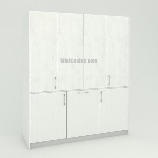 Mini cucina a scomparsa da cm. 184 chiusa, monoblocco