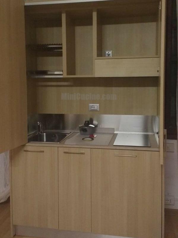 Mini cucina a scomparsa da cm 139
