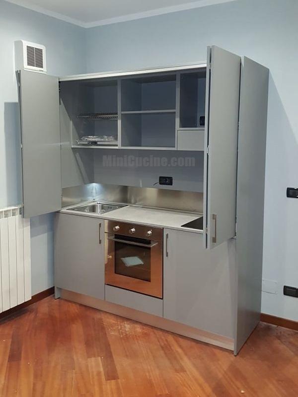 Mini cucina Grigio Platino da cm. 184 con forno